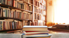 Stock Photo Stack Of Books On Table At Library 517422088